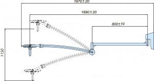 Схема настенного  светильника 200 W