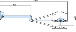 Схема настенного  светильника 300 W