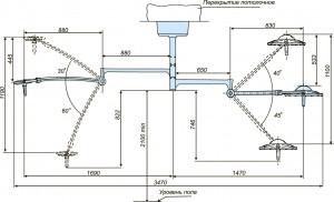 Схема потолочного  светильника 300 200