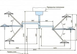Схема потолочного светодиодного светильника 300 300