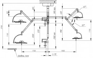 Схема потолочного  светильника 500 300