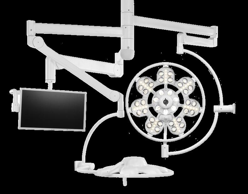 Светильник операционный потолочный ЭМАЛЕД 500/500/X