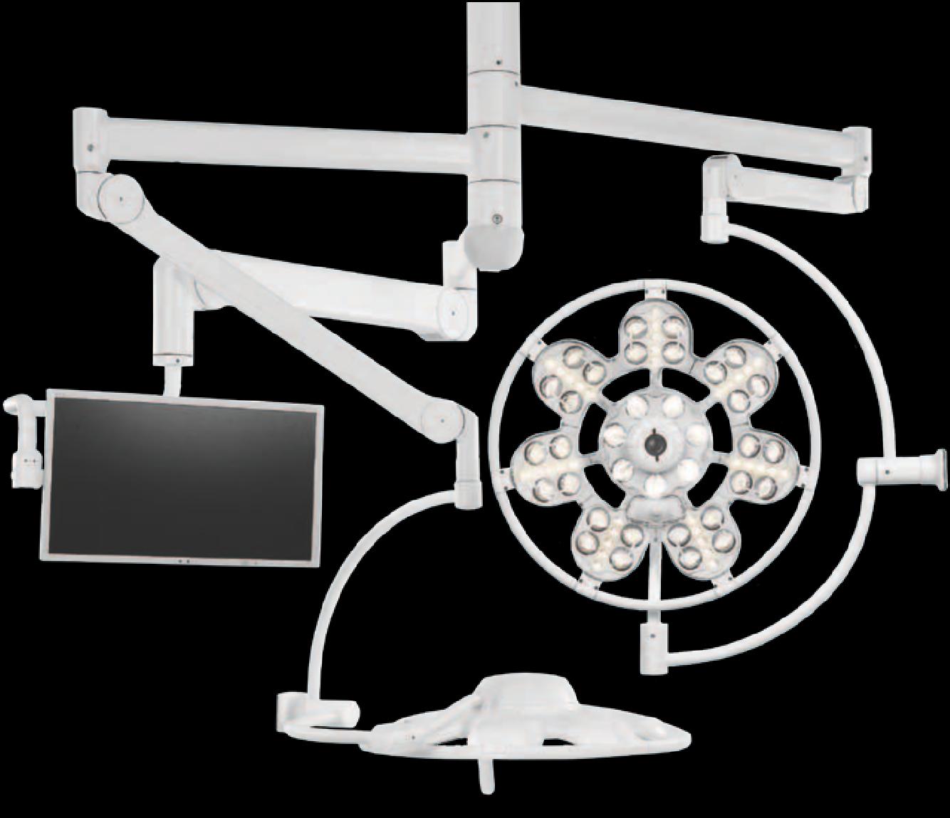 Светильник операционный потолочный ЭМАЛЕД 500 500