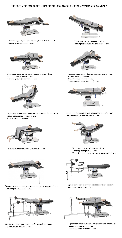 Принадлежности для операционных столов ФАУРА